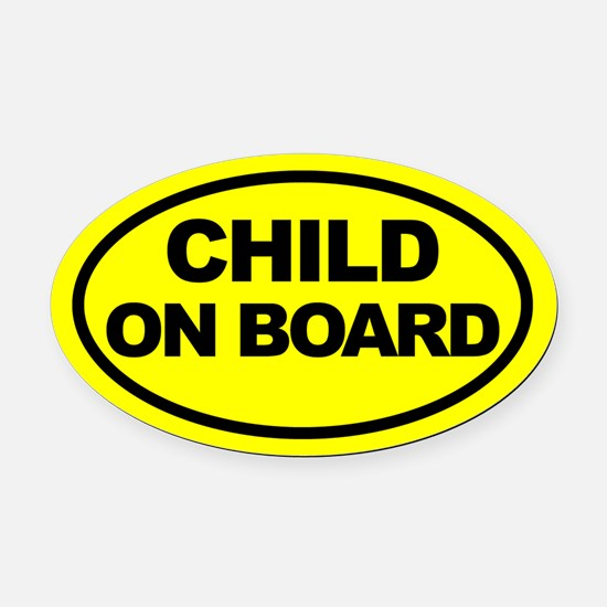 Baby on Board Car Oval Car Magnets Oval Car Magnet
