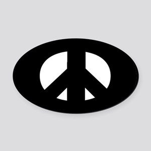 Peace Oval Car Magnet