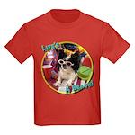 Lifes a beach papillon Kids Dark T-Shirt