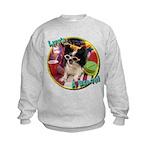 Lifes a beach papillon Kids Sweatshirt