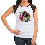 Lifes a beach papillon Women's Cap Sleeve T-Shir