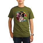 Lifes a beach papillon Organic Men's T-Shirt (da