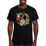 Lifes a beach papillon Men's Fitted T-Shirt (dar