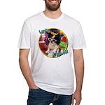 Lifes a beach papillon Fitted T-Shirt