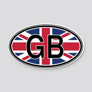 Great Britain Euro Oval Car Magnet