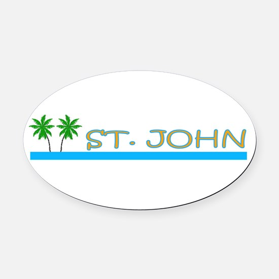 Funny Carribean Oval Car Magnet