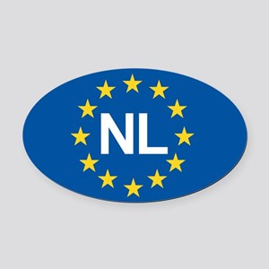 Holland NL EU Oval Car Magnet
