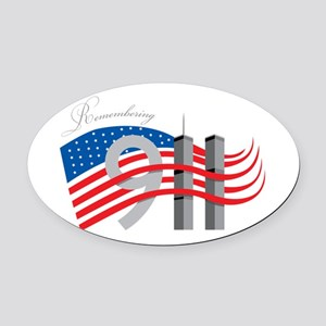 Remembering 911 Oval Car Magnet