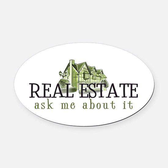 RE ASK ME 2 Oval Car Magnet