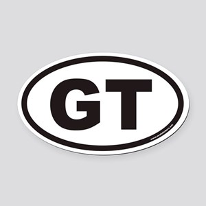 GT Euro Oval Car Magnet