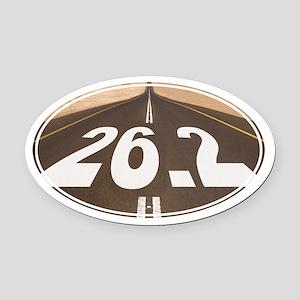 Unique 26.2 Painted Road - Oval Car Magnet