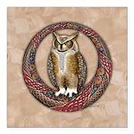 Celtic Owl Square Car Magnet 3