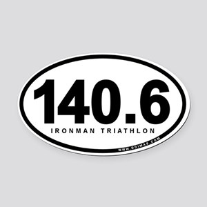 140.6 Ironman Triathlon Oval Car Magnet