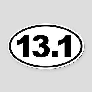 13.1 Half Marathon Oval Euro Oval Car Magnet