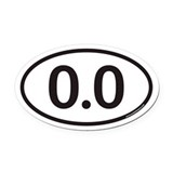 Running 0.0 Oval Car Magnets