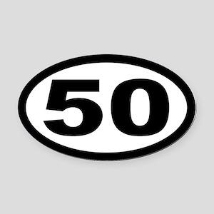 Ultramarathon 50 Mile Oval Car Magnet