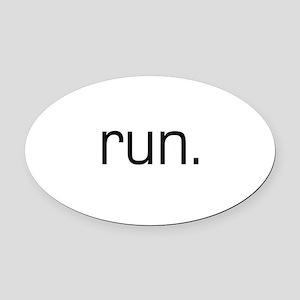 Run Oval Car Magnet