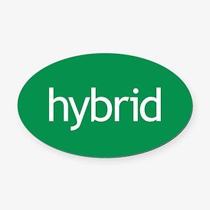 Hybrid green Oval Car Magnet