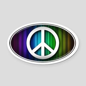 Big Peace RAINBOW - Oval Car Magnet