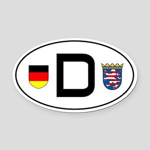 Germany car Oval Car MagnetHessen variant)