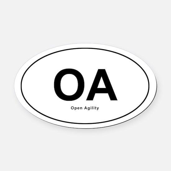 Open Agility Oval Car Magnet