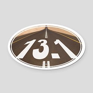Unique 13.1 Painted Road - Oval Car Magnet