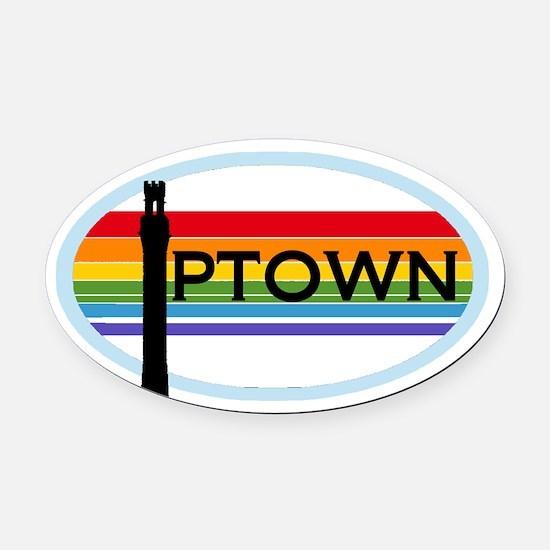 Provincetown Oval Car Magnet