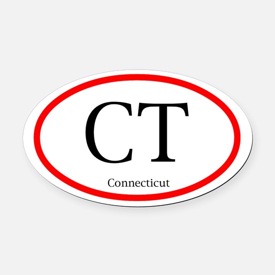 Connecticut Oval Decal (Oval Car Magnet)