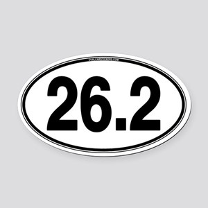 26.2 Euro Oval Car Magnet (Oval)