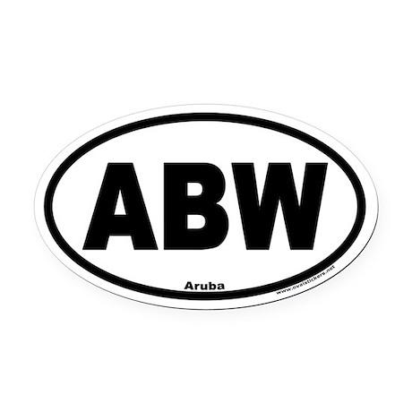 Aruba ABW Euro Oval Car Magnet