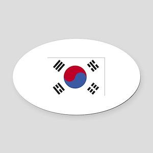 South Korea Oval Car Magnet