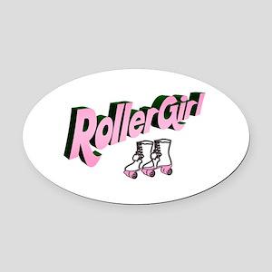 """""""Roller Girl"""" Oval Car Magnet"""