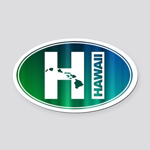 HI Hawaii - Oval Car Magnet