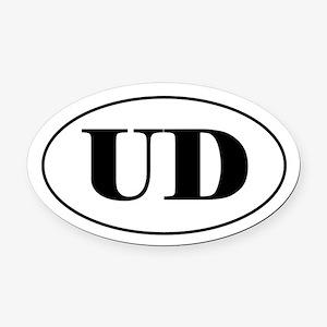 Utility Dog Oval Car Magnet