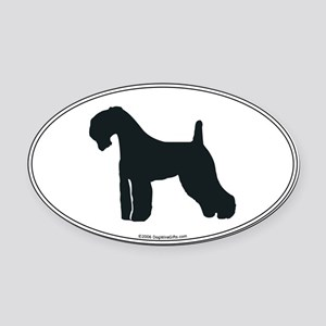 Kerry Blue Silhouette Oval Car Magnet