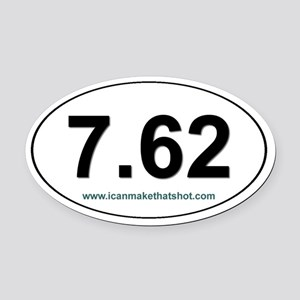 7.62 Oval Car Magnet