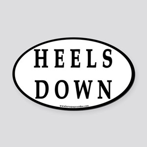 Heels Down (#4) Euro Oval Car Oval Car Magnet