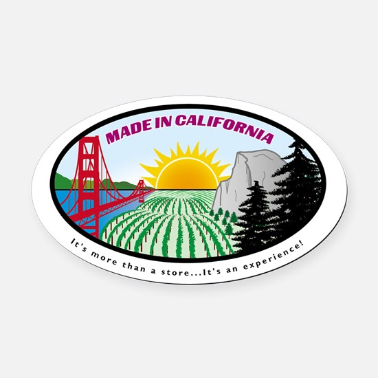 Cute Shop made in california for gourmet food and Oval Car Magnet