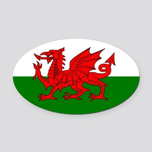 Wales Oval Car Magnet