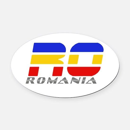 Romanian Car Oval Car Magnet Oval Car Magnet