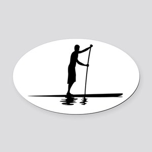 Paddleboarder MkI Oval Car Magnet