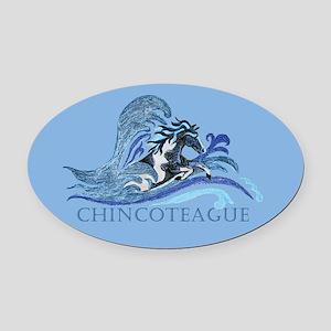 Chincoteague Pony Oval Car Magnet