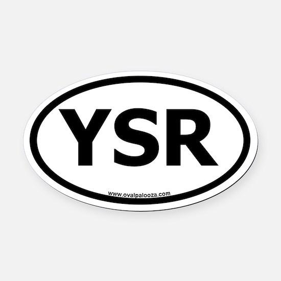 YSR Oval Car Magnet