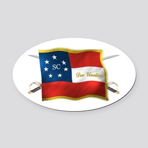 South Carolina Deo Vindice Oval Car Magnet