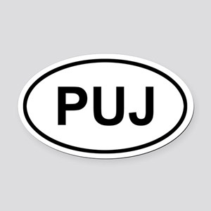 Punta Cana Dominican Republic PUJ Oval Car Magnet