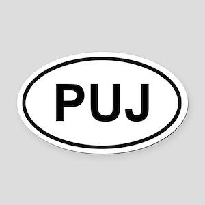 Punta Cana Dominican Republic PUJ Oval Car Magnet