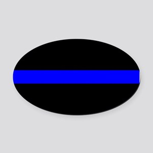 The Thin Blue Line Oval Car Magnet