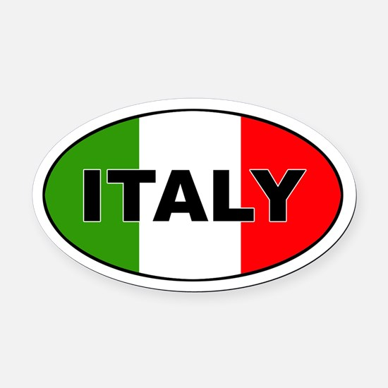 Italy (Italia) Flag Oval Car Magnet