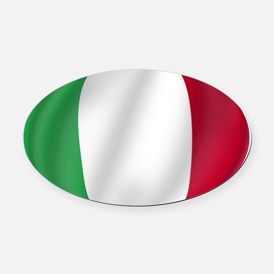 Pure Flag of Italy Oval Car Magnet