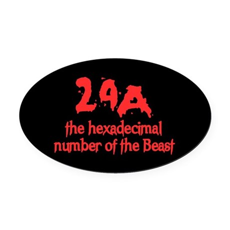 Number of the Beast Oval Car Magnet